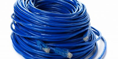 OVDC blue ethernet cables